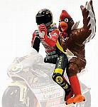 Valentino Rossi + Chicken figurines GP Barcellona 1998 by MINICHAMPS
