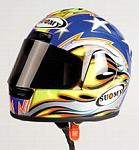 Helmet Suomy Superbike Ben Bostrom Laguna Seca (1/2 scale - 14cm) by MINICHAMPS