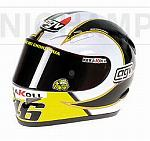 Helmet  AGV Valentino Rossi Vice World Champion MotoGP 2006 (1/2 scale - 13cm) by MINICHAMPS