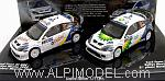 Ford Focus RS WRC Set Double Winners Rally Mexico 2004 Maertin Park - Duval Prevot by MINICHAMPS