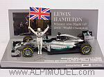 Mercedes AMG F1 W05 Hybrid Winner Abu Dhabi 2014 World Champion Lewis Hamilton by MINICHAMPS