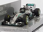 Mercedes W06 AMG Hybrid GP USA 2015 Nico Rosberg by MINICHAMPS