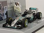 Mercedes W06 AMG Hybrid Winner GP USA 2015 World Champion Lewis Hamilton by MINICHAMPS