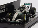 Mercedes W07 AMG Hybrid #6 GP Abu Dhabi 2016 World Champion Nico Rosberg by MINICHAMPS