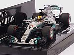 Mercedes W08 AMG #44 GP Mexico 2017 World Champion Lewis Hamilton by MINICHAMPS