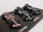 McLaren - Mercedes Lewis Hamilton World Champion Formula 1 Triple Set 2008- 2014- 2015 by MINICHAMPS