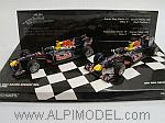 Red Bull RB6 Constructors World Champion 2010 Set Vettel + Webber by MINICHAMPS