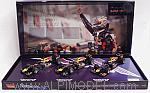 Red Bull 3-cars Set  F1 World Champion: 2010- 2011-2012  Sebastian Vettel by MINICHAMPS