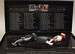 McLaren MP4/8 Ayrton Senna + Mercedes W06 Set - Lewis Hamilton 41st career win equalling Senna by MINICHAMPS