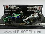 Jordan 191 Ford 1991 + Mercedes GP W02 2011 Michael Schumacher 1st GP Special Edition Set 20 Years by MINICHAMPS