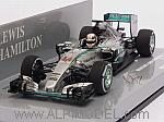 Mercedes W06 Hybrid GP Malaysia 2015 World Champion Lewis Hamilton by MINICHAMPS