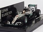 Mercedes W07 AMG Hybrid Winner GP Monaco 2016 Lewis Hamilton (HQ Resin) by MINICHAMPS