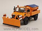 Mercedes Unimog 1300L Orange Schneepflug - Snowplow - Spazzaneve by MINICHAMPS