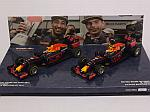 Red Bull RB12 Set Winner and 2nd place Ricciardo-Verstappen GP Malaysia 2016 by MINICHAMPS