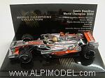 McLaren Mercedes MP4/23 GP Brazil 2008 Lewis Hamilton 'World Champion Collection' by MINICHAMPS