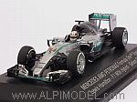 Mercedes W06 AMG Hybrid 2015 World Champion Lewis Hamilton (Mercedes Promo) by MINICHAMPS
