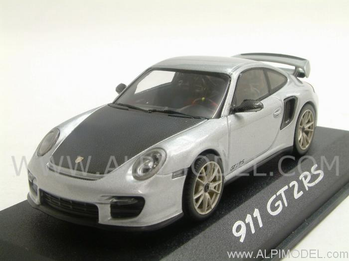 minichamps porsche 911 gt2 rs 2010 silver 1 43 scale model. Black Bedroom Furniture Sets. Home Design Ideas
