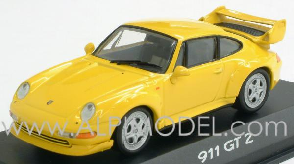 minichamps porsche 911 gt2 speed yellow 1 43 scale model. Black Bedroom Furniture Sets. Home Design Ideas