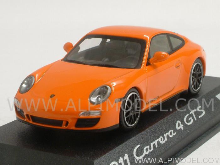 minichamps porsche 911 carrera 4 gts orange porsche promo 1 43 scale model. Black Bedroom Furniture Sets. Home Design Ideas