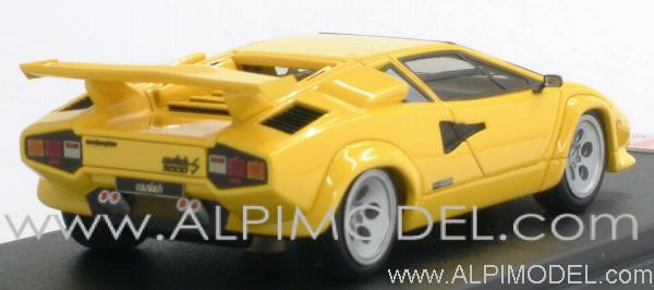 mr collection lamborghini countach lp 500s 1982 yellow 1 43 scale model. Black Bedroom Furniture Sets. Home Design Ideas
