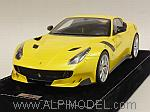 Ferrari F12 TDF 2016 (Giallo Tristrato) with display case and Alcantara base by MR COLLECTION.