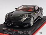 Ferrari F12 TDF 2016 (Nero Daytona) with display case and Alcantara base by MR COLLECTION.