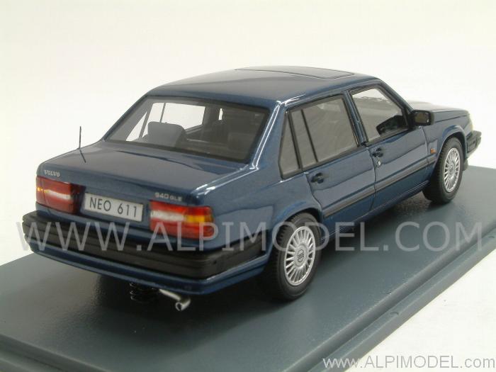 neo volvo 940 gle dark blue metallic 1992 1 43 scale model. Black Bedroom Furniture Sets. Home Design Ideas