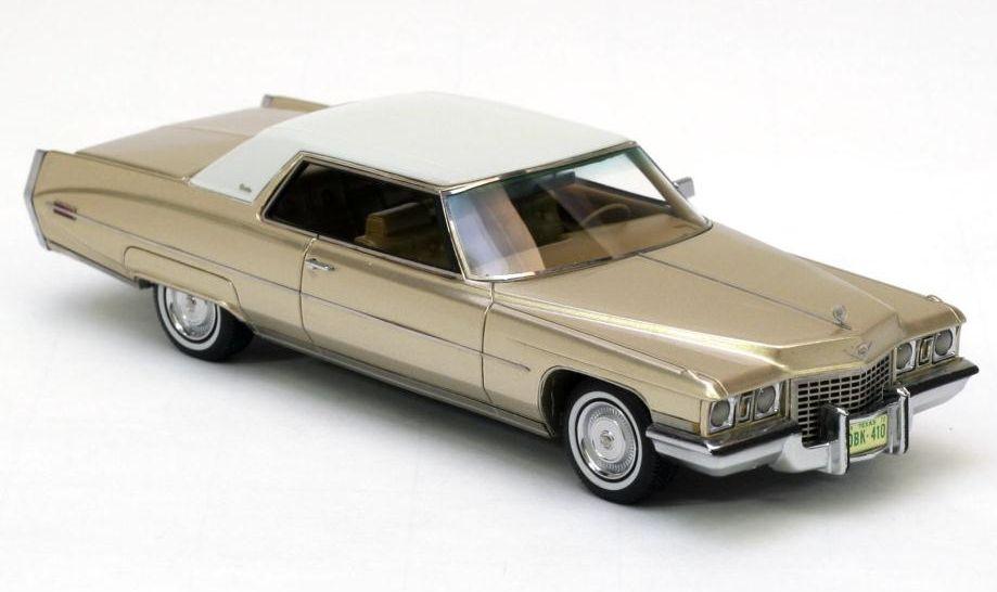 Neo Cadillac Coupe De Ville 1972 Gold Metallic 1 43