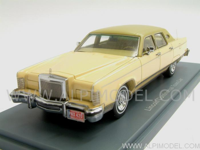 Neo Lincoln Continental Town Car Yellow 1977 1 43 Scale