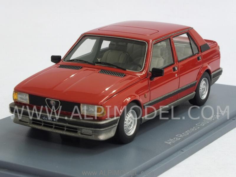 Neo Alfa Romeo Giulietta 1 6 1980 Red 1 43 Scale Model
