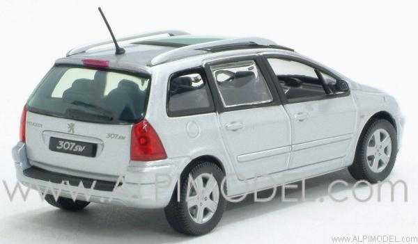 Norev Peugeot 307 Sw Silver 1 43 Scale Model