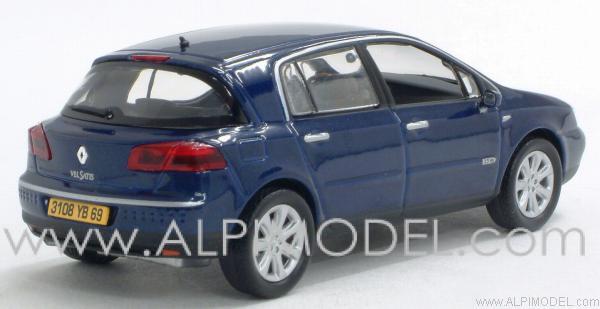 norev renault vel satis 3 5 v6 initiale blue metallic 1 43 scale model. Black Bedroom Furniture Sets. Home Design Ideas