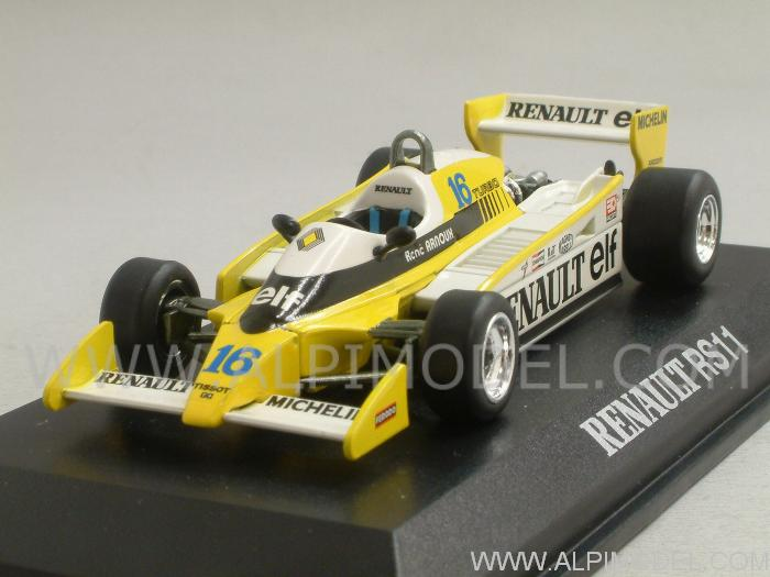 norev renault f1 rs11 gp france 1979 renee arnoux 1 43 scale model. Black Bedroom Furniture Sets. Home Design Ideas