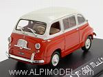 Fiat 600 Multipla 1963  (Red/White) by NOREV