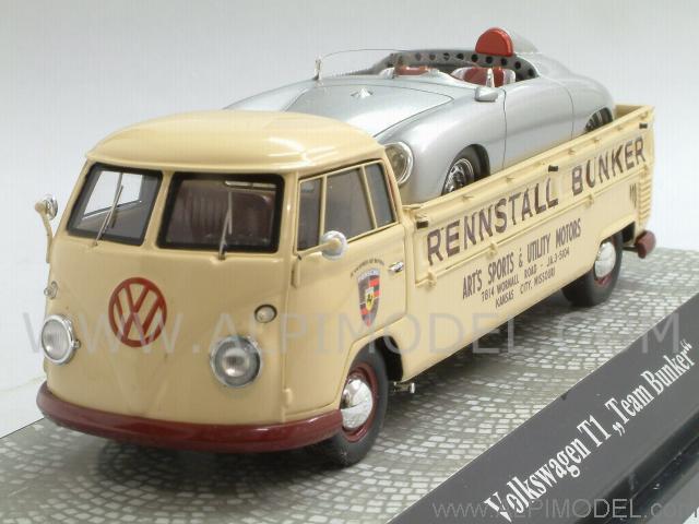 Premium Classixxs Volkswagen T1 Rennstall Bunker With Porsche 356 Speedster America 1 43 Scale