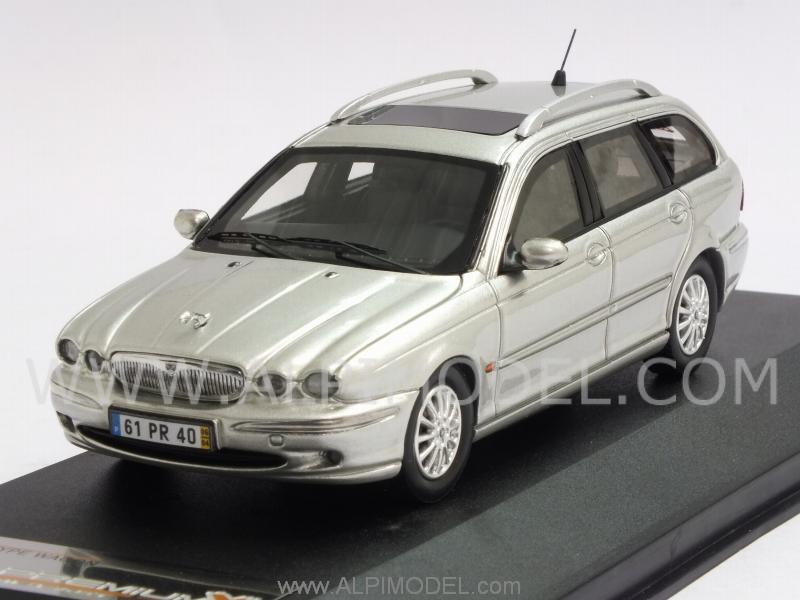 premium x jaguar x type wagon 2004 silver 1 43 scale model. Black Bedroom Furniture Sets. Home Design Ideas