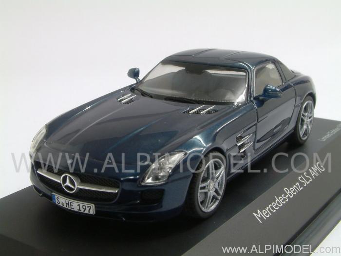 Schuco Mercedes Sls Amg Coupe Blue 1 43 Scale Model