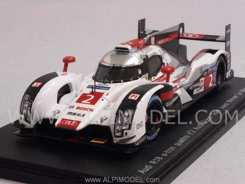 Spark Model Audi R18 E Tron Quattro 2 Winner Le Mans 2014