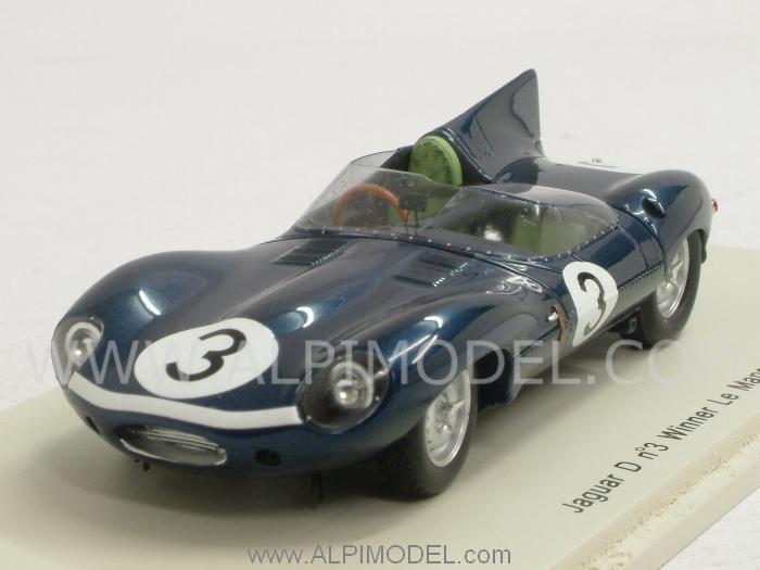 jaguar d type 3 winner le mans winner 1957 bueb   flockhart by spark