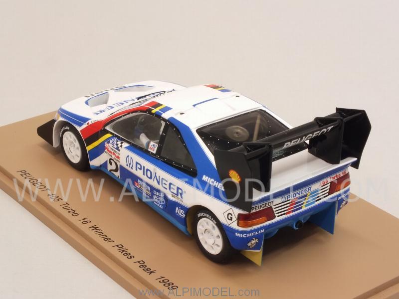 sparkmodel Peugeot 405 Turbo 16 2 Winner Pikes Peak 1989 RUnser