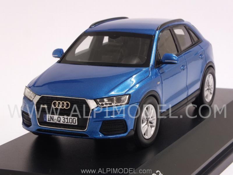 Spark Model Audi Q3 2015 Hainan Blue Audi Promo 1 43 Scale Model