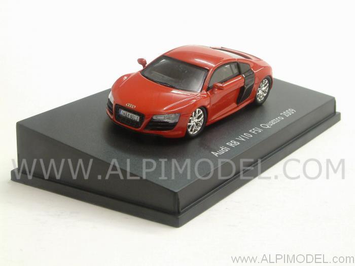 Spark Model Audi R8 V10 Red H0 1 87 Scale 5cm 1 87