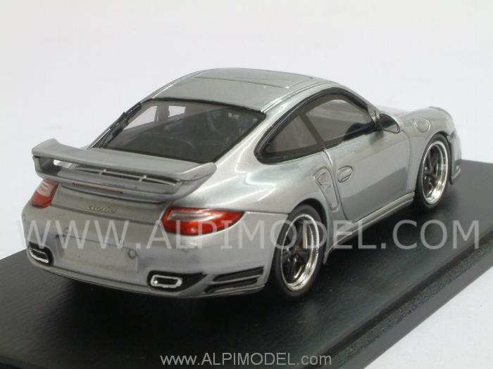 Spark Model Porsche 911 Turbo Tequipment Silver 1 43 Scale Model