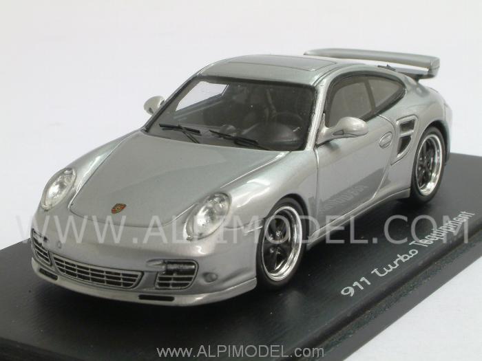 Spark Model Porsche 911 Turbo Tequipment Silver 1 43 Scale Model