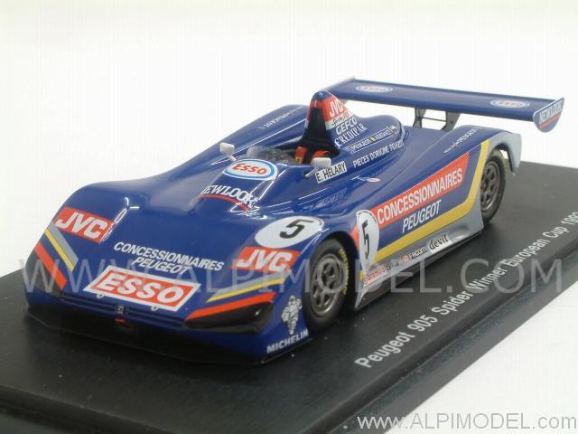 spark-model Peugeot 905 Spider #5 Winner European Cup 1992