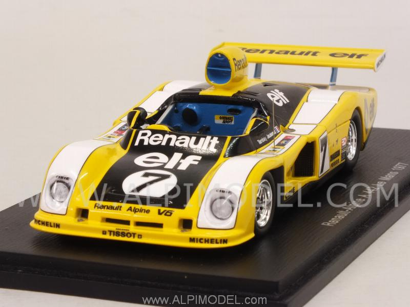 spark model alpine renault a442 7 le mans 1977 tambay jaussaud 1 43 scale model. Black Bedroom Furniture Sets. Home Design Ideas