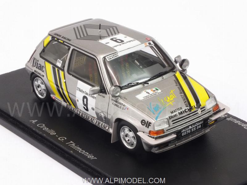 spark-model Renault 5 GT Turbo #9 Winner Rally Ivory Coast
