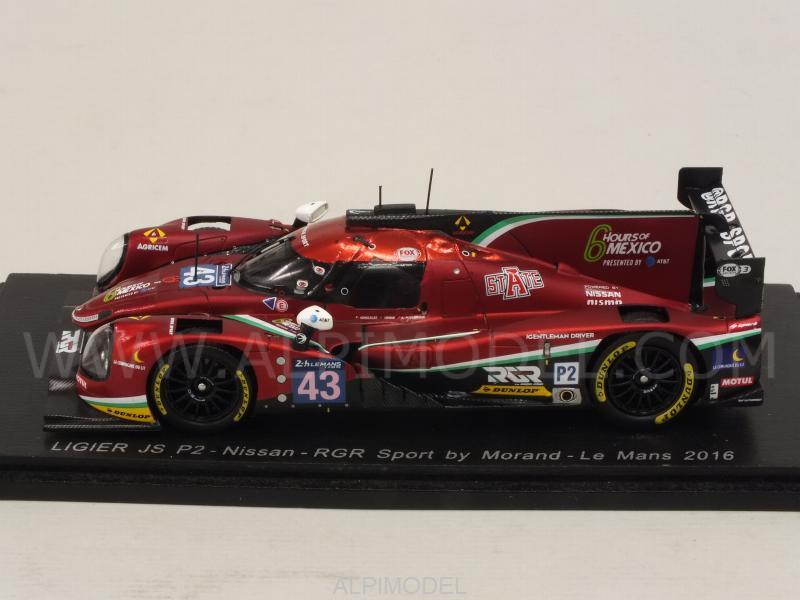 Spark Model Ligier Jsp2 Nissan 43 Le Mans 2016 Gonzales