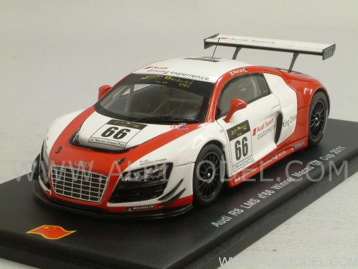 Spark Model Audi R8 Lms 66 Winner Macau Gt Cup 2011