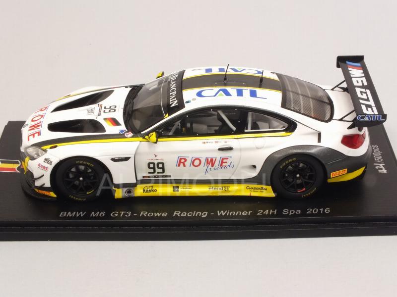BMW M6 GT3  24h Spa 2016  ROWE Racing  Eng Martin Sims  1:43 Spark SB 175